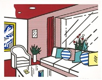 living room by roy lichtenstein