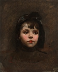 portrait of a little girl by frank duveneck