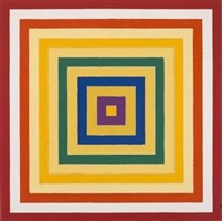scramble: ascending spectrum/ ascending yellow values by frank stella