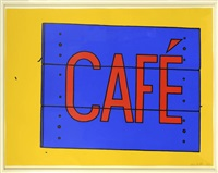 café sign by patrick caulfield