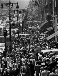 5th avenue at lunchtime by andreas feininger