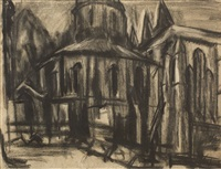 the round church, middle temple by david bomberg