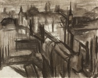 london during the blitz by david bomberg