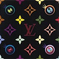 eye love superflat (black) by takashi murakami