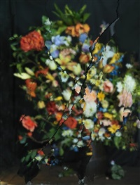 on reflection, material e22 (after j. brueghel the elder) by ori gersht