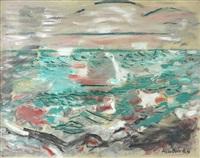seascape, cape split, maine by john marin