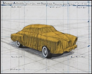 wrapped automobile (project for 1950 studebaker champion, series 9 g coupe by christo