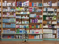 hide in paris n°12, pharmacy by liu bolin