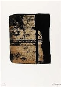 serigraphie no. 11 (from sur le mur d'en face) by pierre soulages