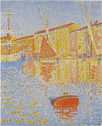 la bouée (the buoy), saint tropez by paul signac