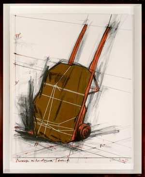 wrapped hand truck by christo
