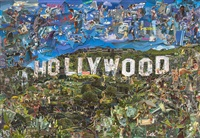 hollywood (postcards from nowhere) by vik muniz