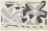 fenêtre ii: oiseau gris (aus: si je mourais là-bas) by georges braque