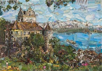 switzerland (postcards from nowhere) by vik muniz