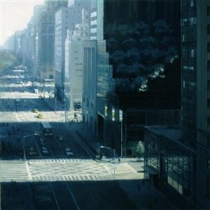 spring morning, fifth avenue by ben aronson