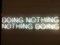 doing nothing / nothing doing by tim etchells