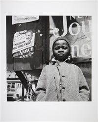 harlem newsboy, harlem, new york by gordon parks