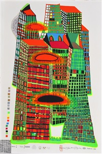 goodmorning city by friedensreich hundertwasser