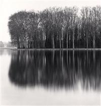 octagonal basin, parc de sceaux, hauts-de-seine, france, 1996 by michael kenna