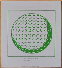 roy lichtenstein – golf ball 1962 by richard pettibone