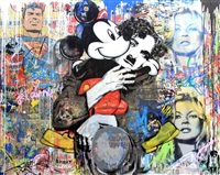 mickey and chaplin by mr. brainwash