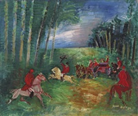 chasse à courre by jean dufy