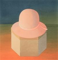 pink felt hat by mark adams