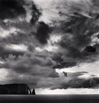 falaise d'aval et nuages, etretat, haute-normandie, france, 2000 by michael kenna