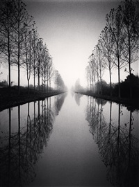 french canal, study 2, loir-et-cher, france, 1993 by michael kenna