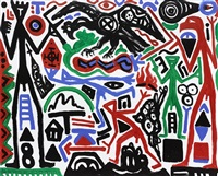 geierflug – beute (vulture flight – prey) by a.r. penck