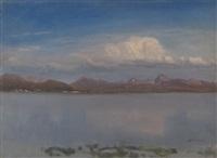 yellowstone lake by albert bierstadt