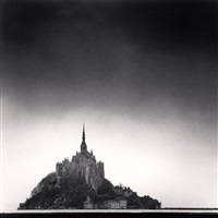 mont st. michel, normandy, france, 1991 by michael kenna