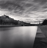 pont de la tournelle, paris, france, 1995 by michael kenna