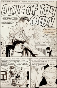 personal love #24 a love of my own title page 1 original art (famous funnies, 1953) by frank frazetta
