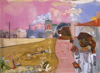 the annunciation by romare bearden