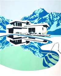 modern home mountains by paul davies