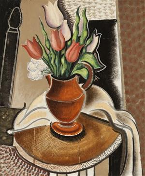still life with tulips by konrad cramer