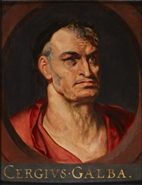 portrait of the emperor servius sulpicius galba by sir peter paul rubens