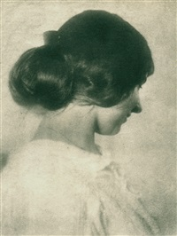 profile of a young lady by heinrich kühn