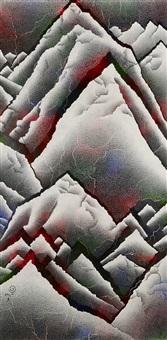 fissuring-snowy peaks by qiu deshu