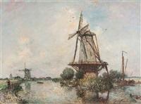 canal aux environs de rotterdam by johan barthold jongkind