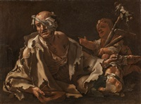 charity: a poor sick man by luca giordano