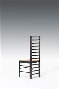 a pair of ladderback chairs for miss cranston's willow tearoom by charles rennie mackintosh