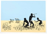 trolley hunters by banksy