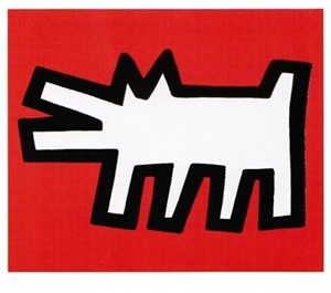 icons #2 (dog) by keith haring