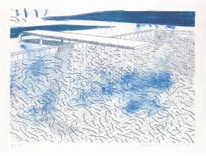 water made of lines by david hockney