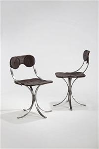 pair of grains de café chairs by claude lalanne