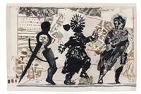 3 figures by william kentridge