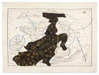 carte de france divisée (dancing lady) by william kentridge