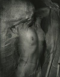 nude under wet silk by erwin blumenfeld
